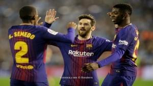 برشلونة يحدد موقفه من رحيل ديمبلي وسيميدو