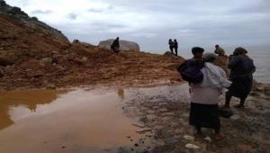 """جمعان : أضرار كبيرة خلفتها العاصفة المدارية """"بافان"""" في سقطرى"""