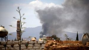 التحالف يقصف مواقع افتراضية للحوثيين بمحيط مطار صنعاء الدولي