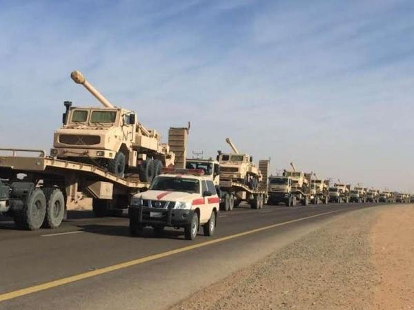 وصول رتل عسكري.. السعودية ترسل عتاد وقوات إضافية لإحكام السيطرة على منافذ المهرة