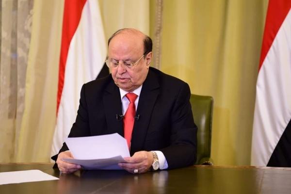 الرئيس هادي يهنئ اليمنيين بذكرى الاستقلال ويشدد على تطبيق اتفاق الرياض