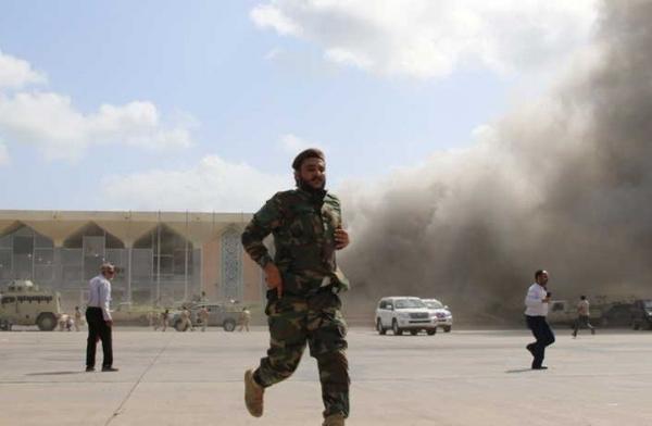 رويترز: فريق للأمم المتحدة يقول إن الحوثيين نفذوا هجوم مطار عدن