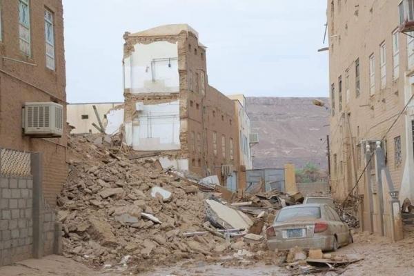 وكيل محافظة حضرموت: سيول الأمطار في تريم أدت إلى تضرر 186منزلاً