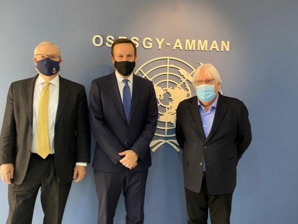 مباحثات بين غريفيث ومسؤولين أمريكيين حول وقف إطلاق النار في اليمن