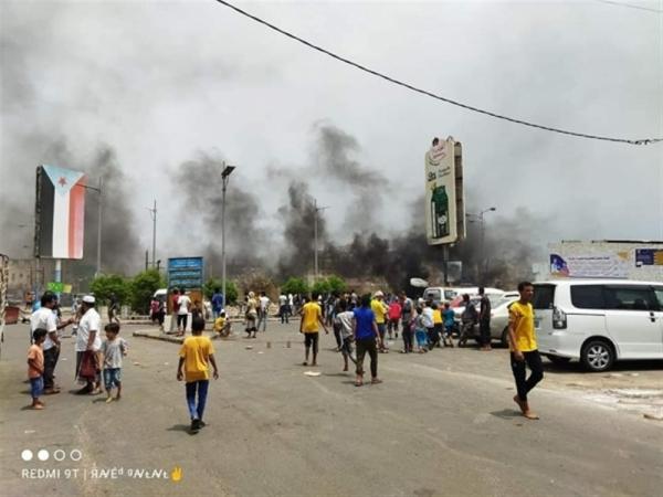 تواصل الاحتجاجات الشعبية في عدن تنديدًا بتدهور الأوضاع المعيشية