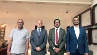 مسؤول  فى لجنة  إعتصام المهرة يلتقي بمسؤولين في مركز جنيف لحكومة قطاع الأمن